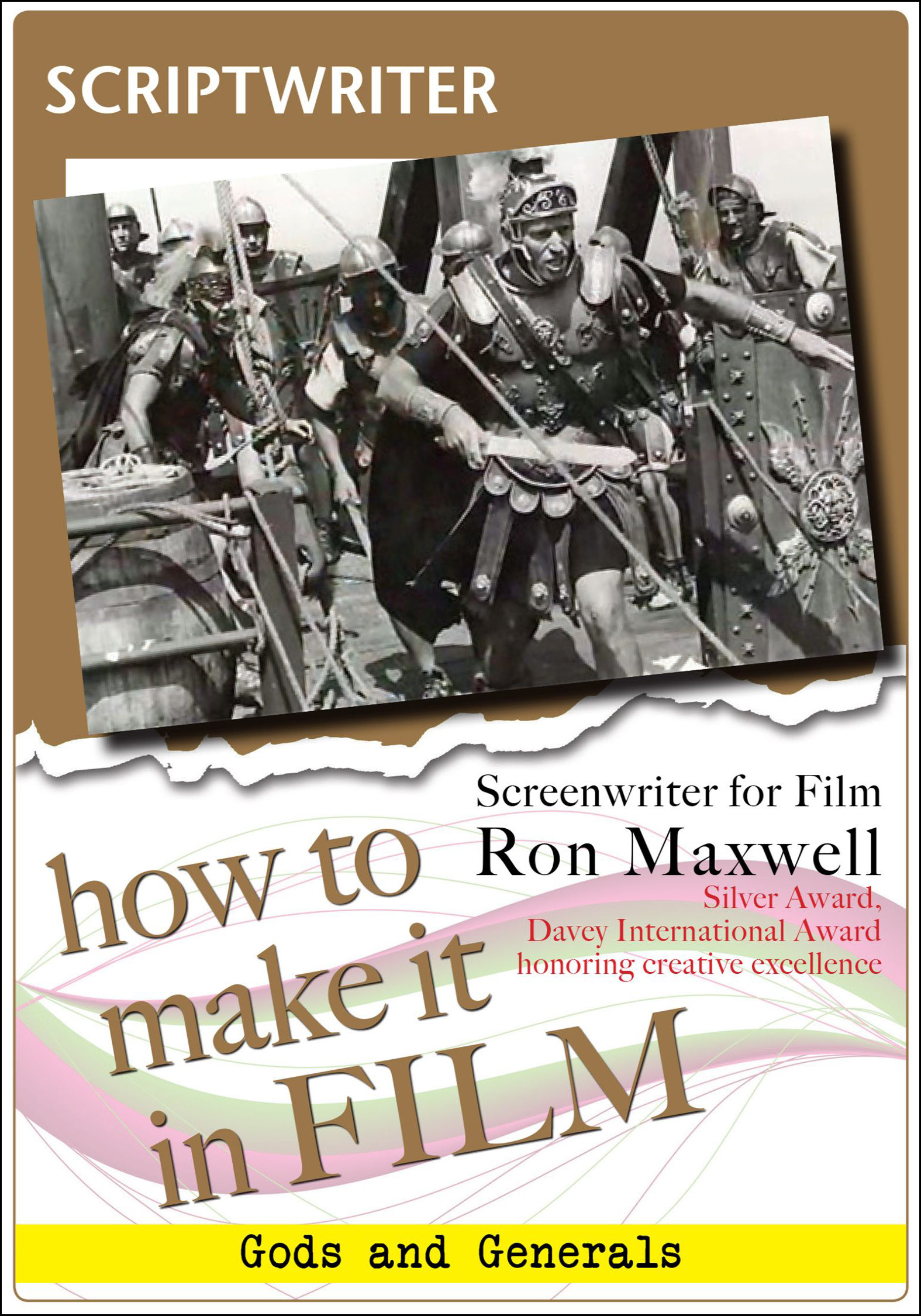 F2852 - Scriptwriter For Film Ron Maxwell