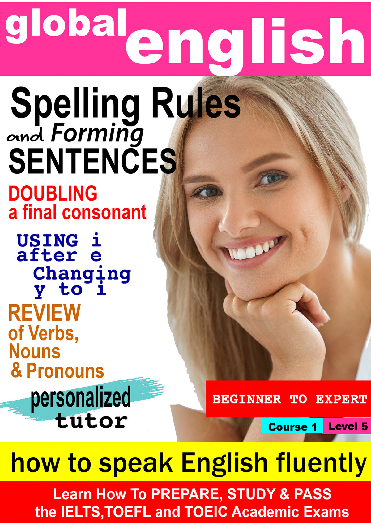 K7005 - Spelling Rules, Review of Verbs, Nouns, Pronouns, Upper/lower case, Identifiers, Present simple & continous tense, Vowels & Consonants, Prepositions of Place, Forming Sentences