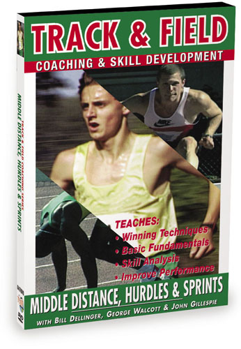 K4470 - Track & Field Middle Distance, Hurdles & Sprints With Bill Dellinger, John Gillespie & George Walcott
