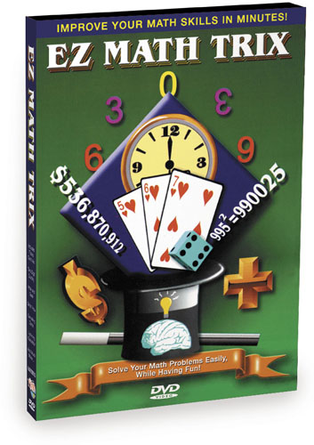 KA320 - EZ Math Trix 5 Set Collection-  Addition & Subtraction, Multiplication, Division, Card Tricks, Math & Number Fun