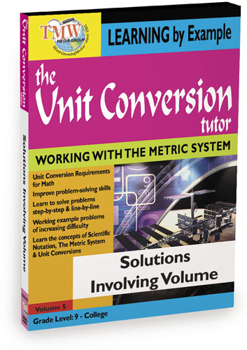 KA8654 - Unit Conversion TutorSolutions Involving Volume